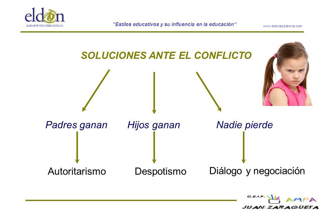 SOLUCIONES ANTE EL CONFLICTO