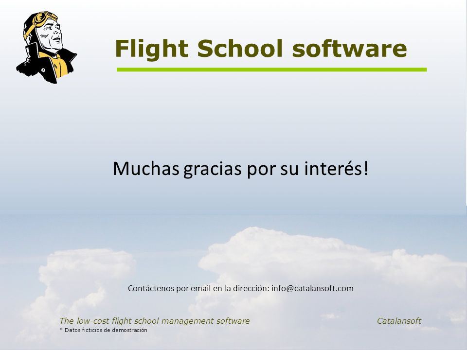 Flight School software