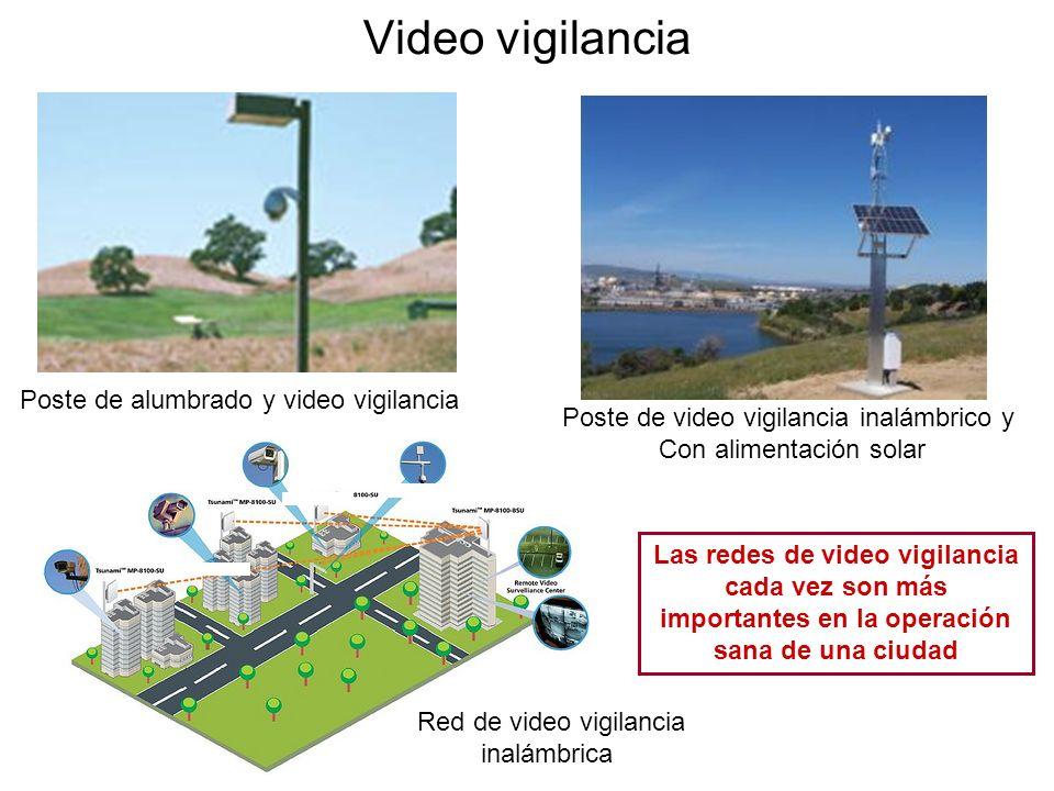 Video vigilancia Poste de alumbrado y video vigilancia
