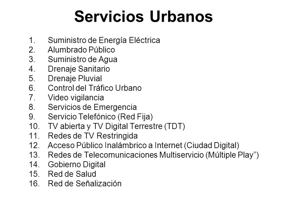 Servicios Urbanos Suministro de Energía Eléctrica Alumbrado Público