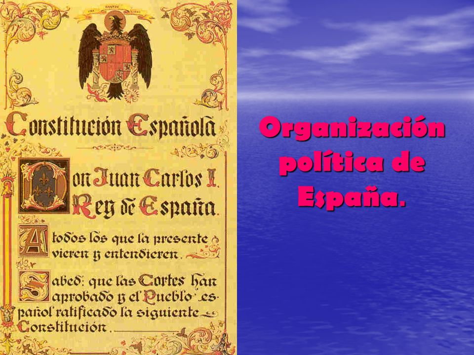 Organización política de España.