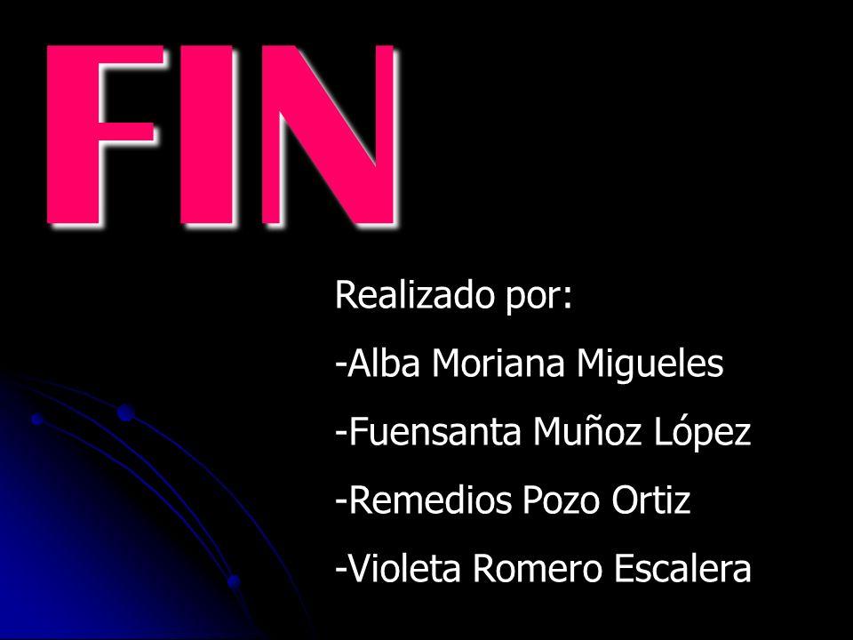 FIN Realizado por: -Alba Moriana Migueles -Fuensanta Muñoz López
