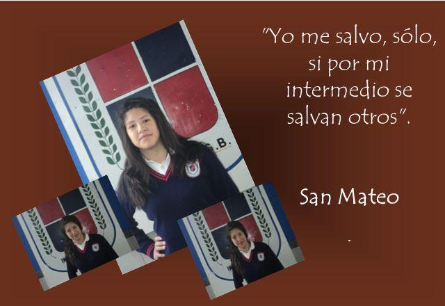 Yo me salvo, sólo, si por mi intermedio se salvan otros .