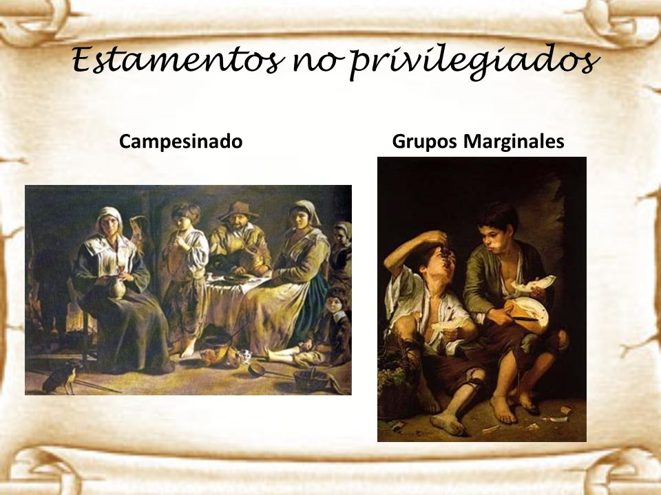 Estamentos no privilegiados