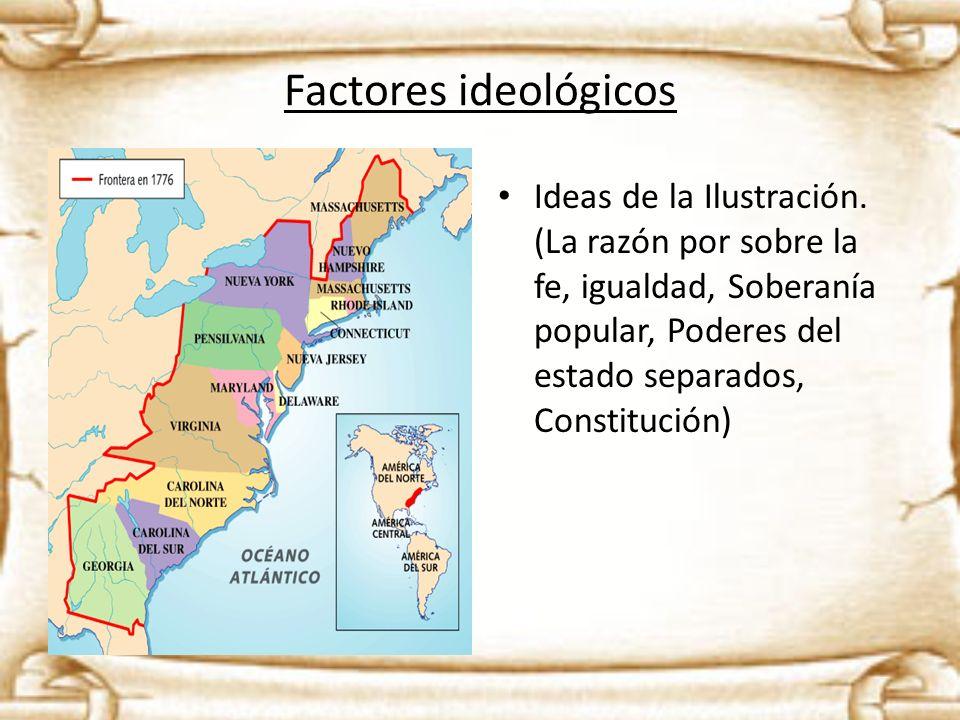 Factores ideológicos Ideas de la Ilustración.