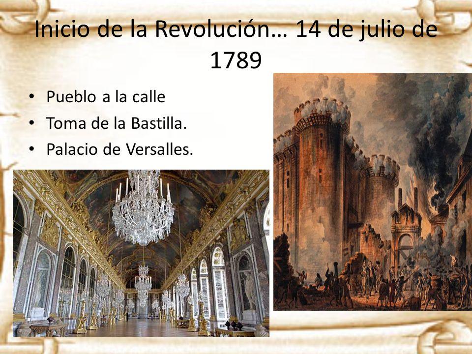 Inicio de la Revolución… 14 de julio de 1789