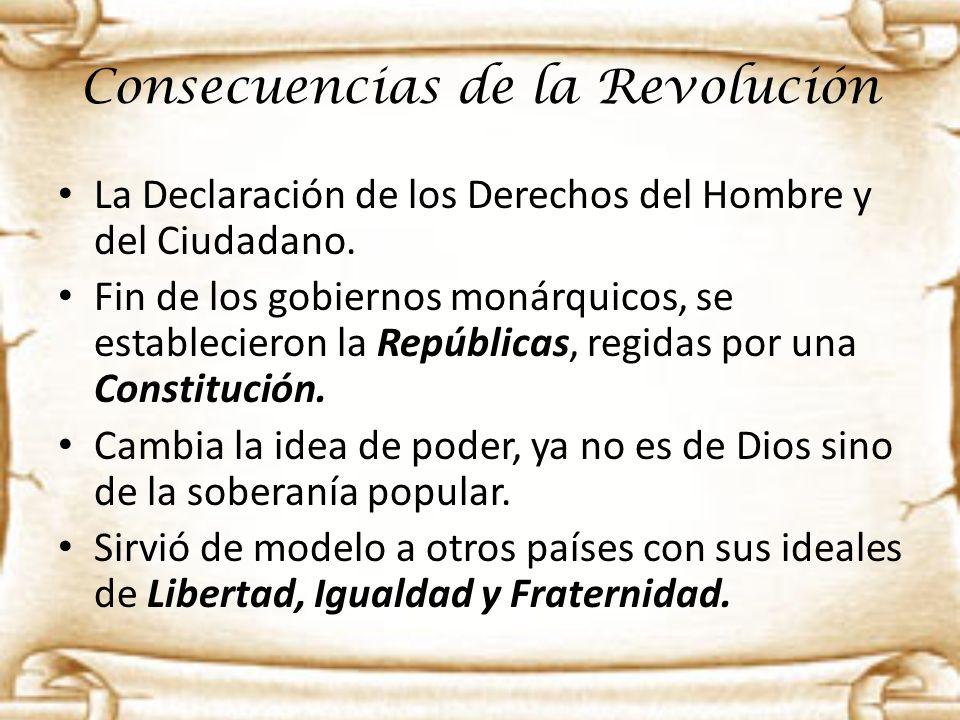 Consecuencias de la Revolución