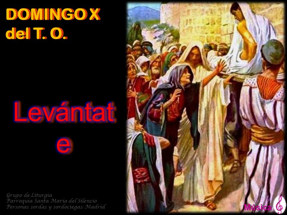 Levántate DOMINGO X del T. O. Música Grupo de Liturgia