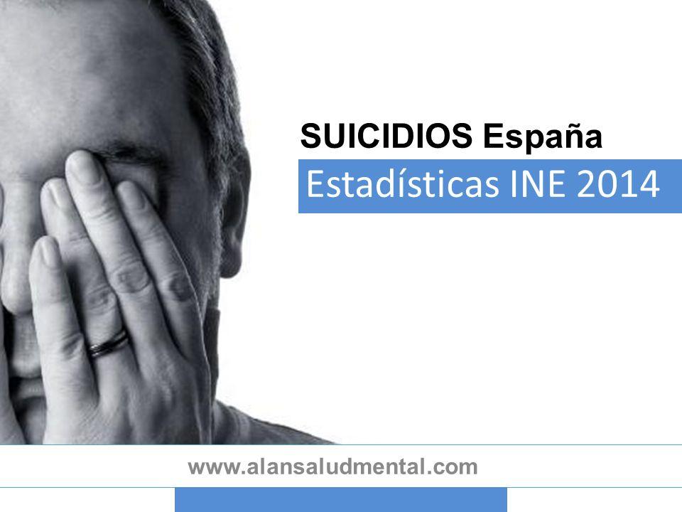 SUICIDIOS España Estadísticas INE 2014 www.alansaludmental.com