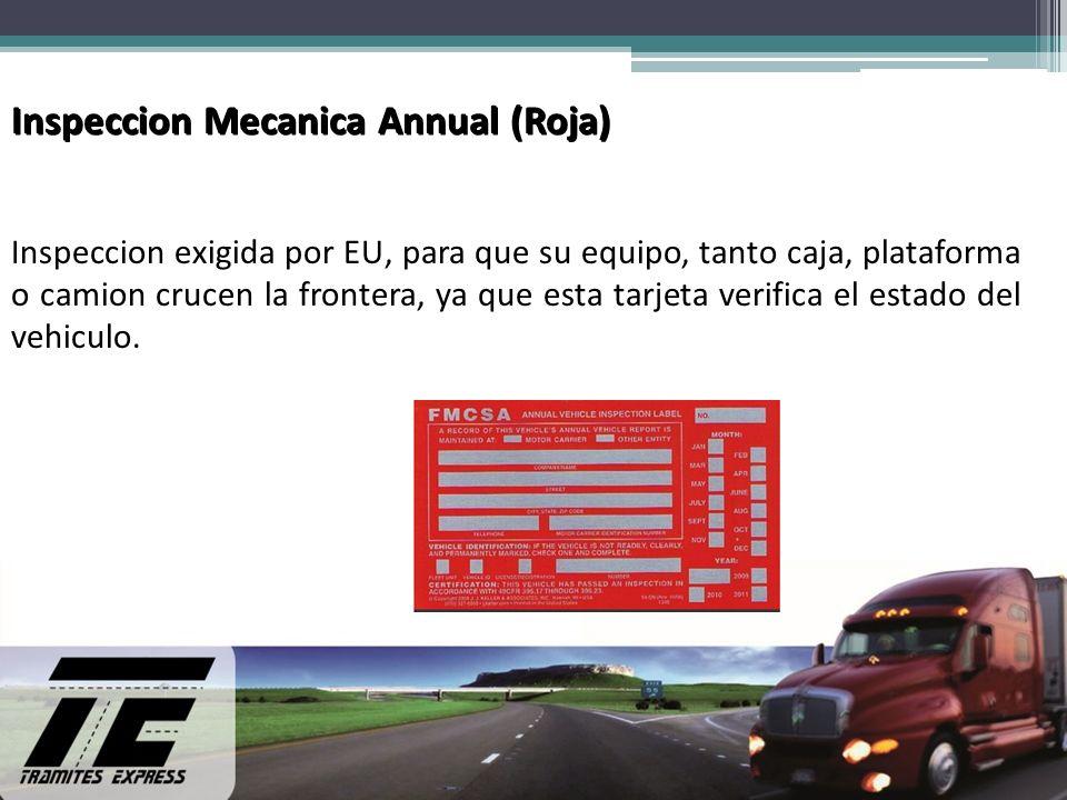 Inspeccion Mecanica Annual (Roja)