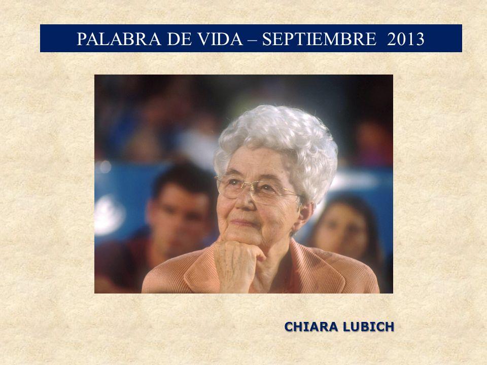 PALABRA DE VIDA – SEPTIEMBRE 2013