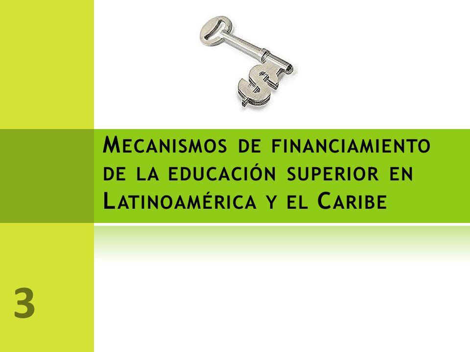 Mecanismos de financiamiento de la educación superior en Latinoamérica y el Caribe