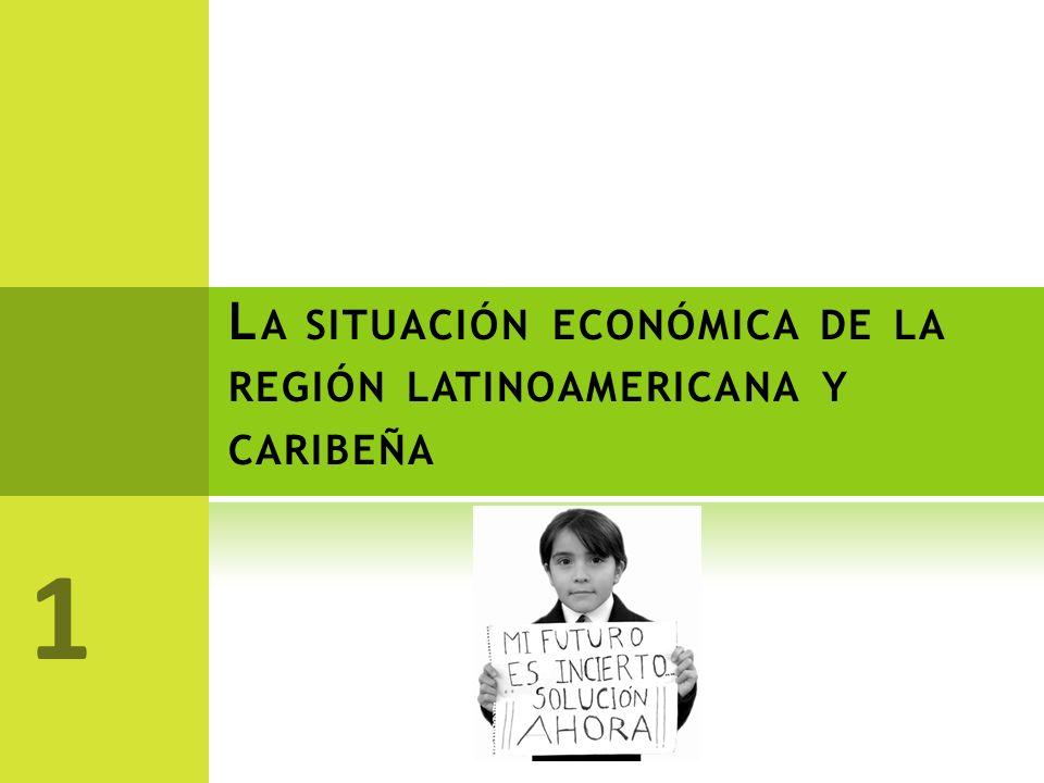 La situación económica de la región latinoamericana y caribeña