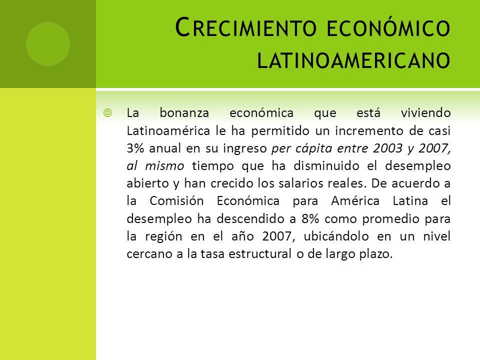 Crecimiento económico latinoamericano