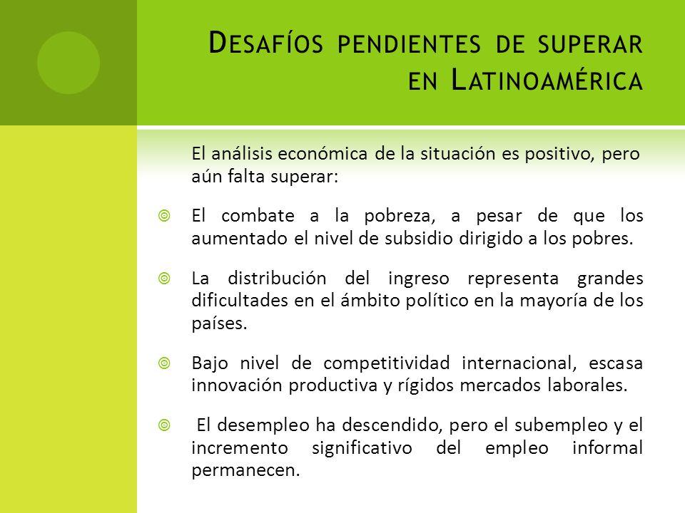 Desafíos pendientes de superar en Latinoamérica
