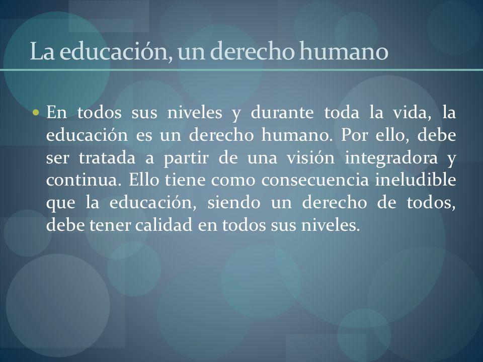 La educación, un derecho humano