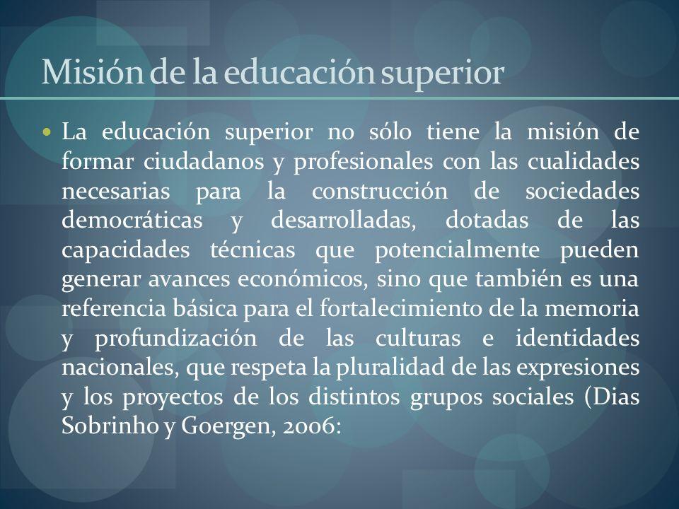 Misión de la educación superior
