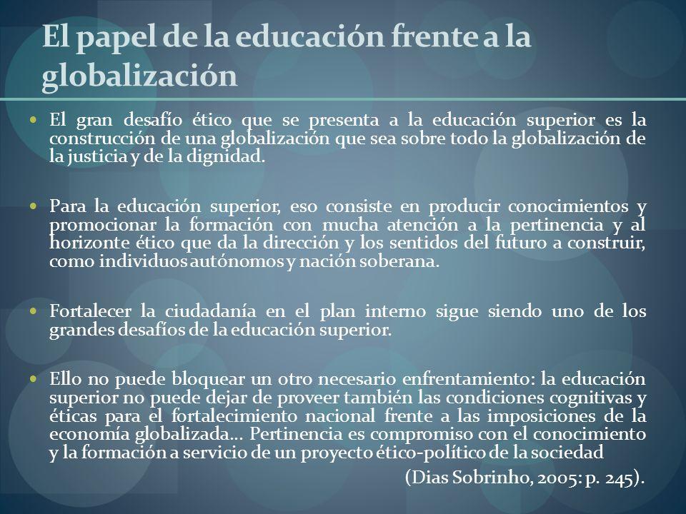 El papel de la educación frente a la globalización