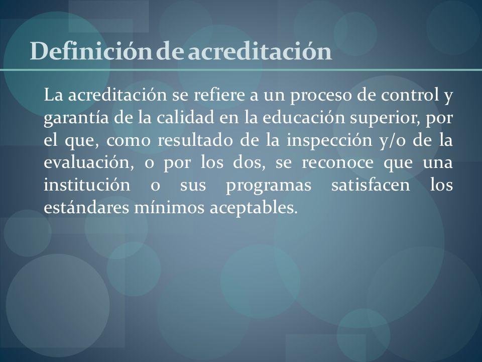 Definición de acreditación