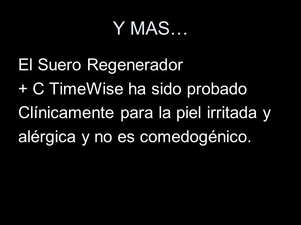 Y MAS… El Suero Regenerador + C TimeWise ha sido probado