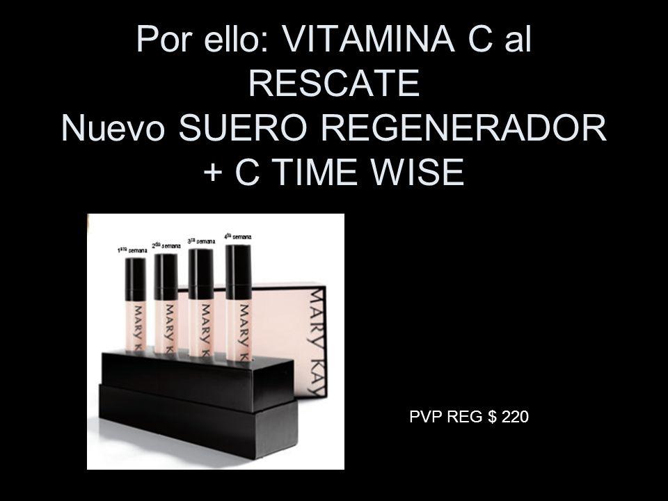 Por ello: VITAMINA C al RESCATE Nuevo SUERO REGENERADOR + C TIME WISE