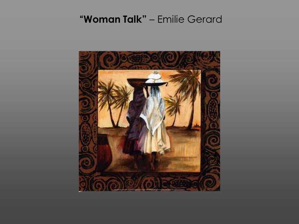 Woman Talk – Emilie Gerard