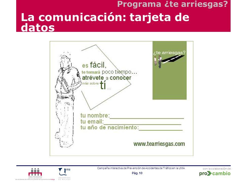 La comunicación: tarjeta de datos
