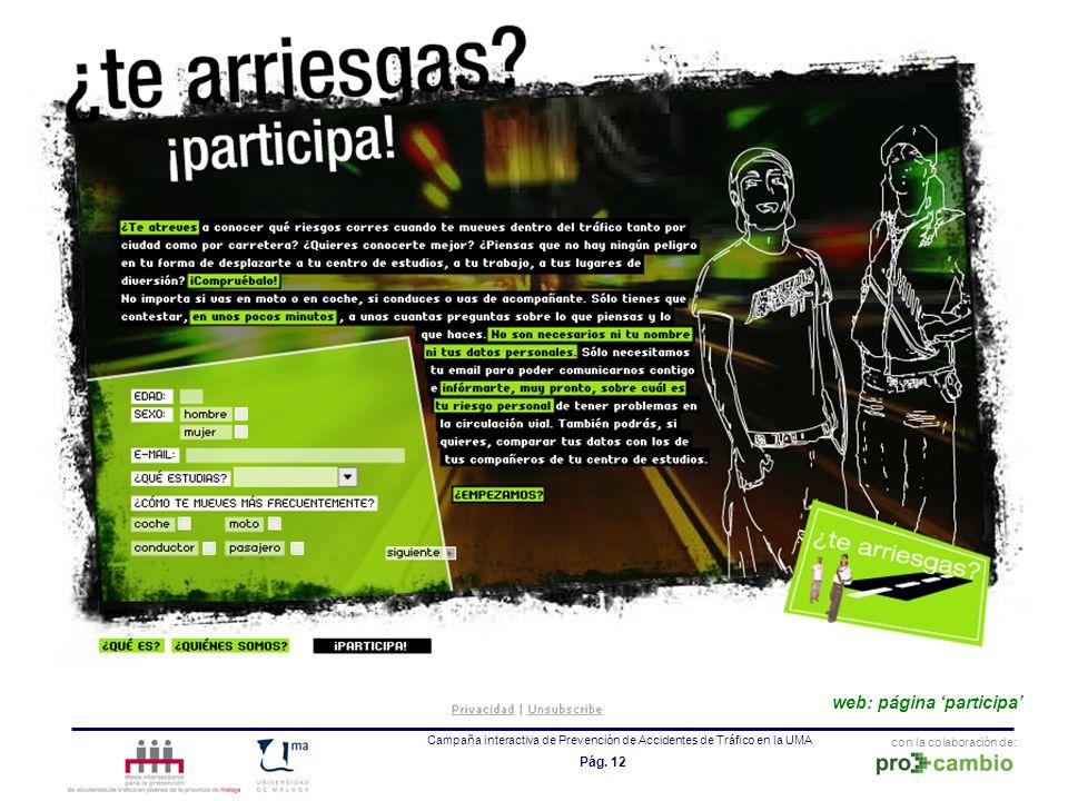 web: página 'participa'