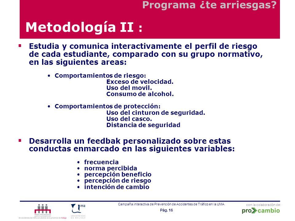 Metodología II : Programa ¿te arriesgas