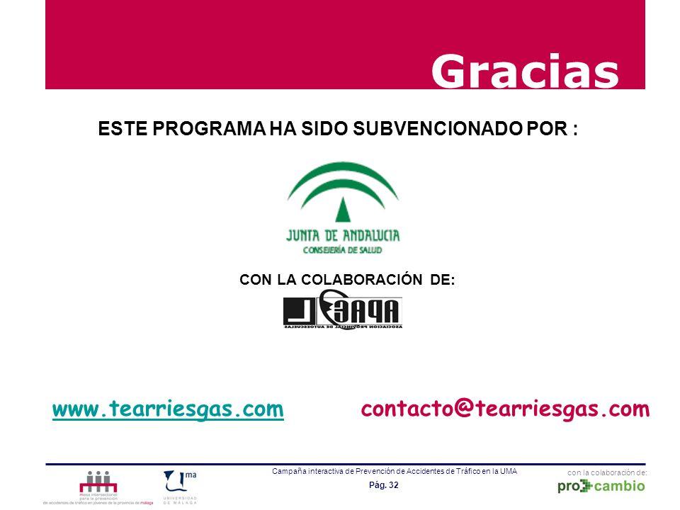 Gracias www.tearriesgas.com contacto@tearriesgas.com
