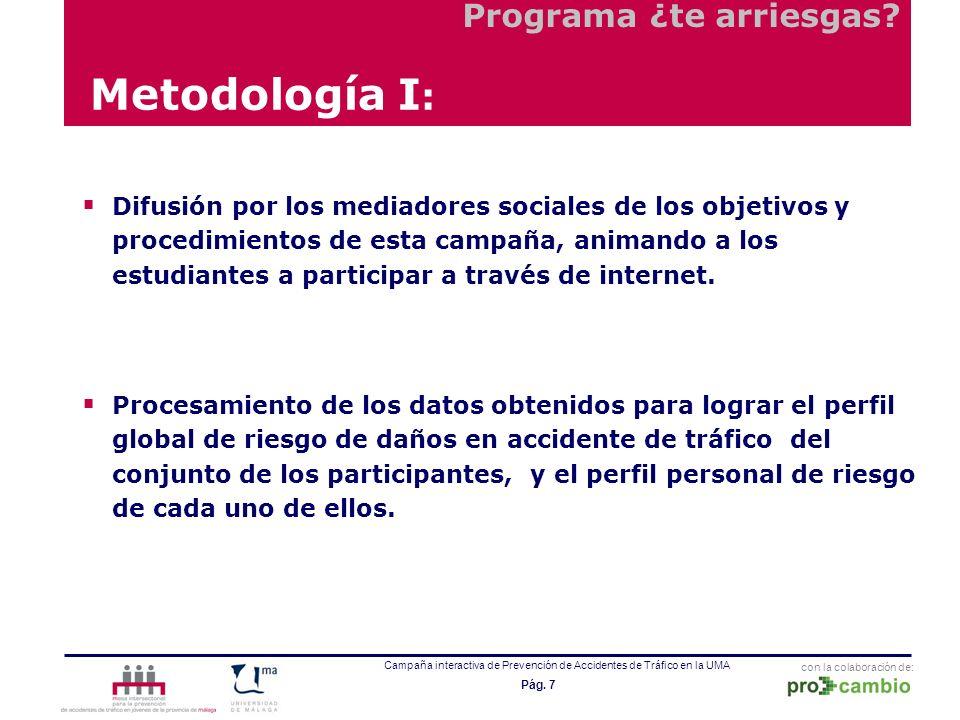Metodología I: Programa ¿te arriesgas