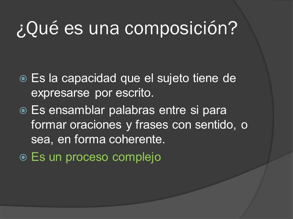 ¿Qué es una composición