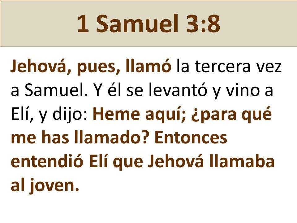 1 Samuel 3:8