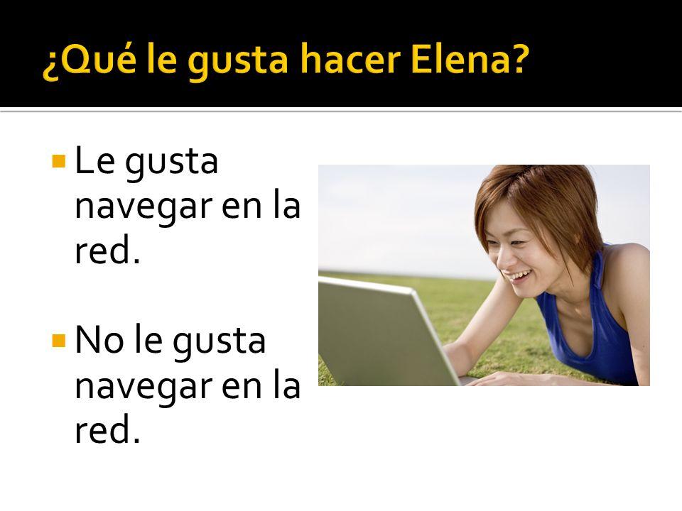 ¿Qué le gusta hacer Elena