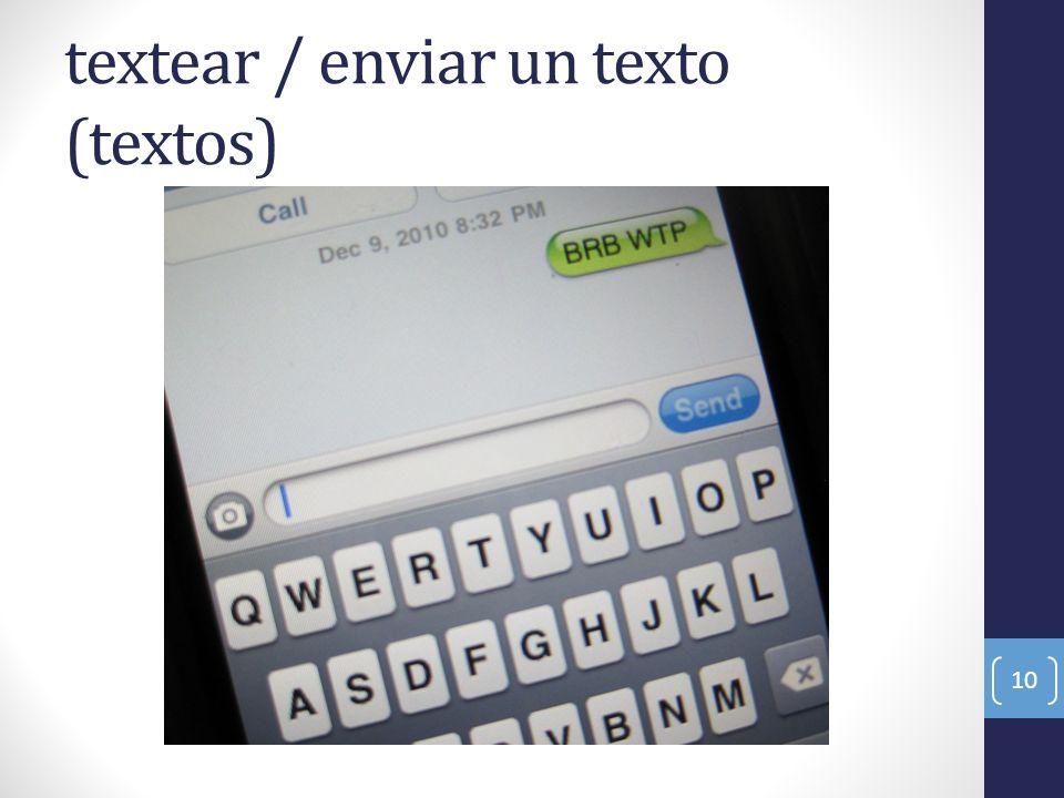 textear / enviar un texto (textos)