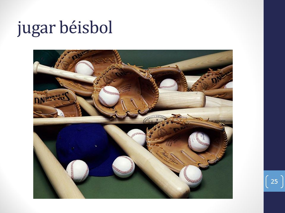 jugar béisbol