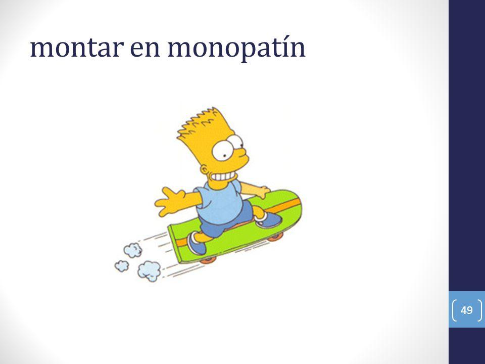 montar en monopatín