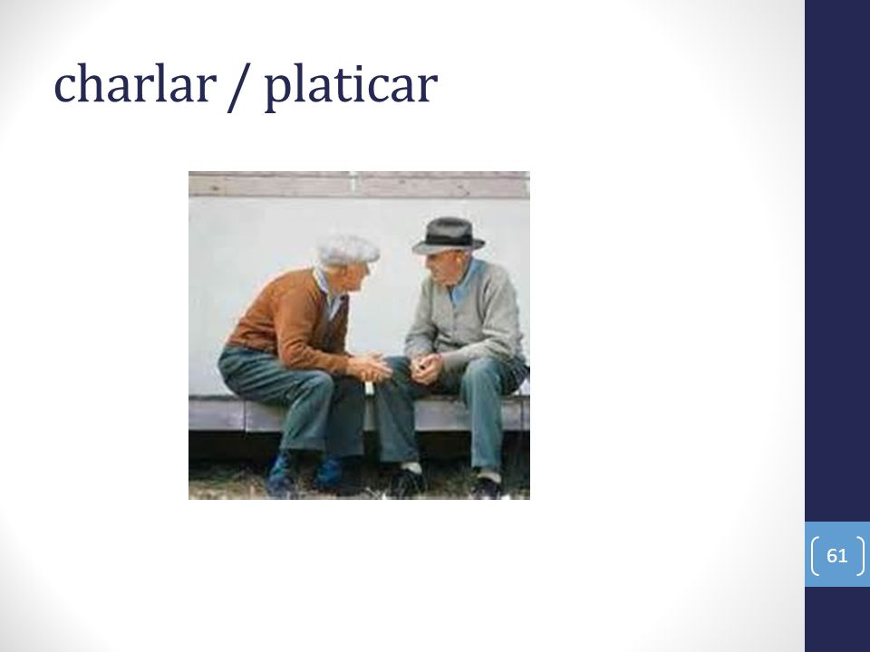 charlar / platicar