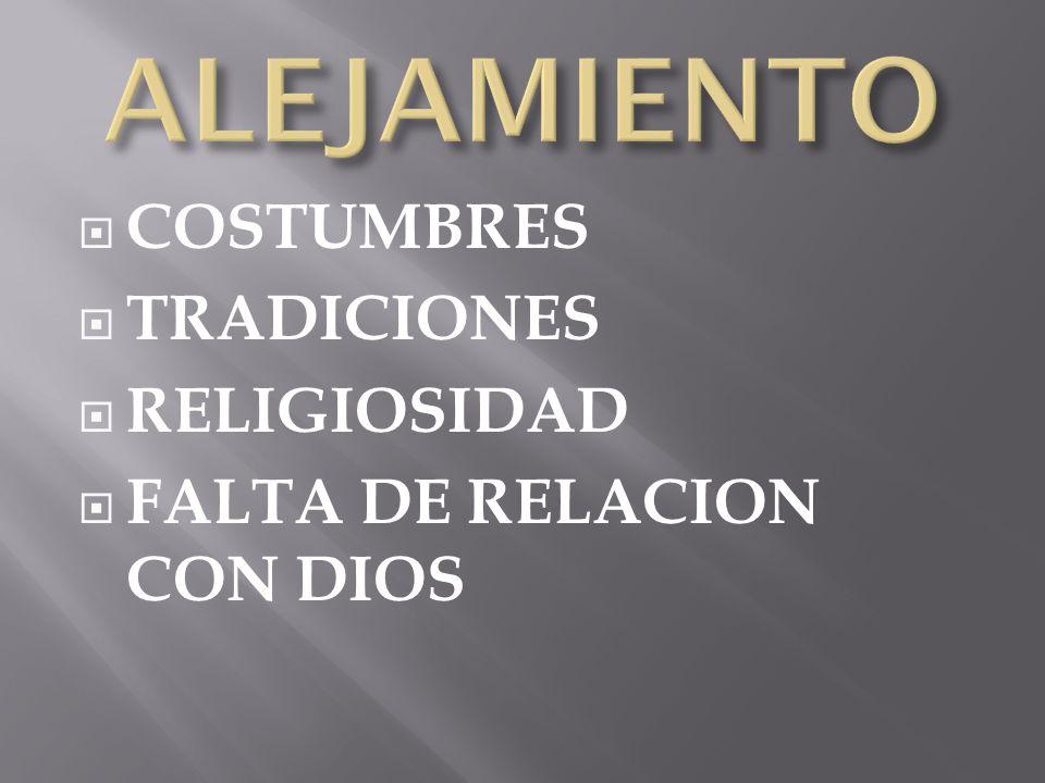 ALEJAMIENTO COSTUMBRES TRADICIONES RELIGIOSIDAD