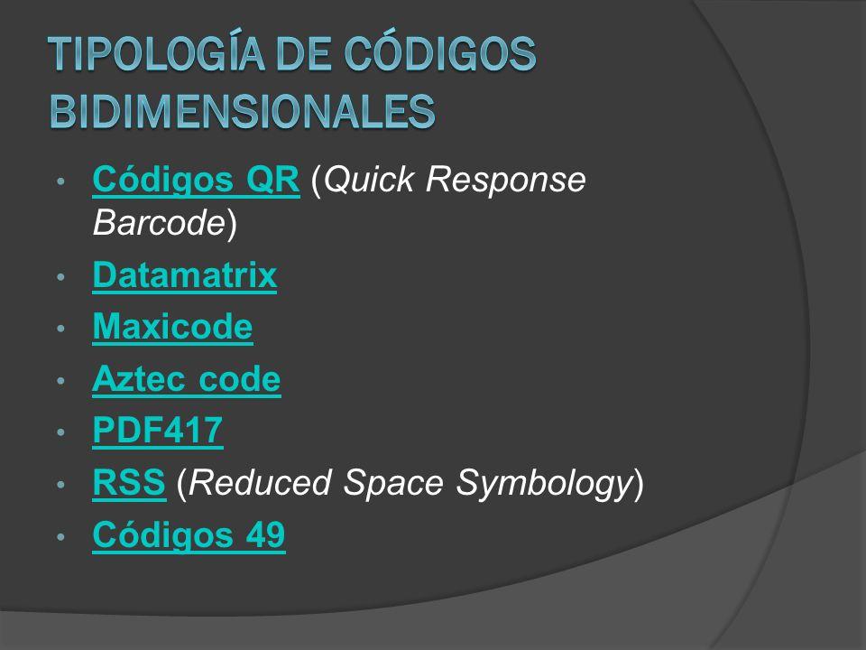 Tipología de Códigos Bidimensionales