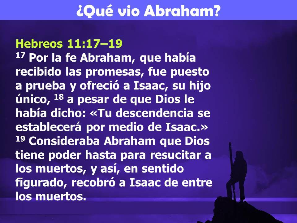 ¿Qué vio Abraham Hebreos 11:17–19