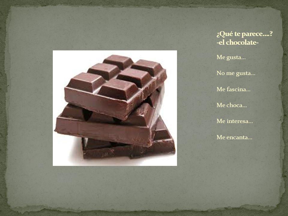 ¿Qué te parece…. -el chocolate-