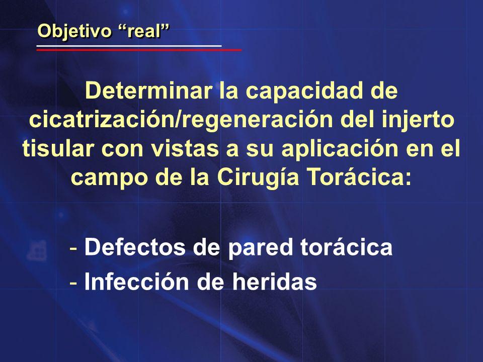 Defectos de pared torácica Infección de heridas