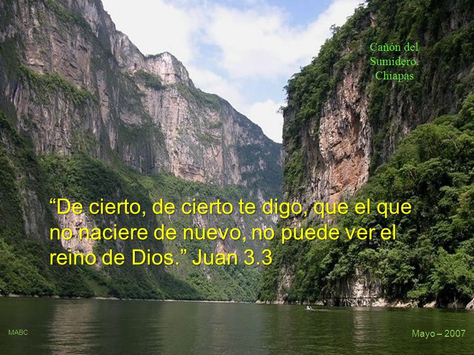 Cañón del Sumidero. Chiapas