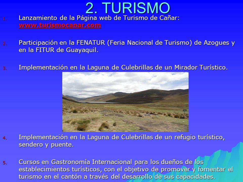 2. TURISMO Lanzamiento de la Página web de Turismo de Cañar: www.turismocanar.com.
