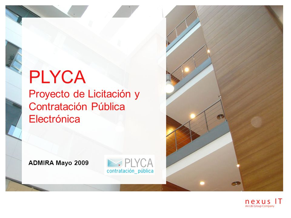 PLYCA Proyecto de Licitación y Contratación Pública Electrónica