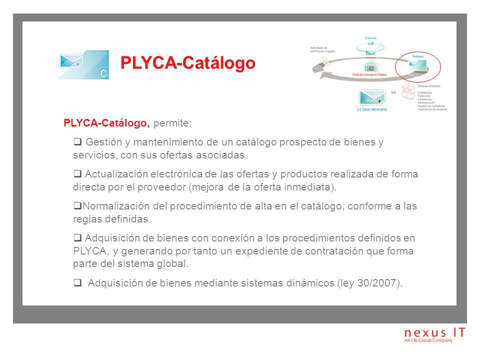 PLYCA-Catálogo PLYCA-Catálogo, permite: