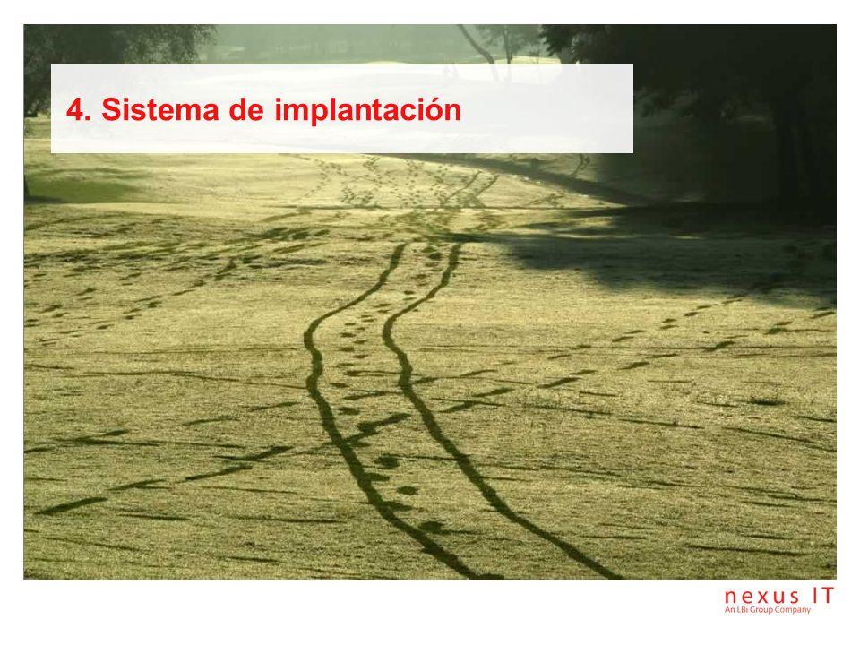 4. Sistema de implantación