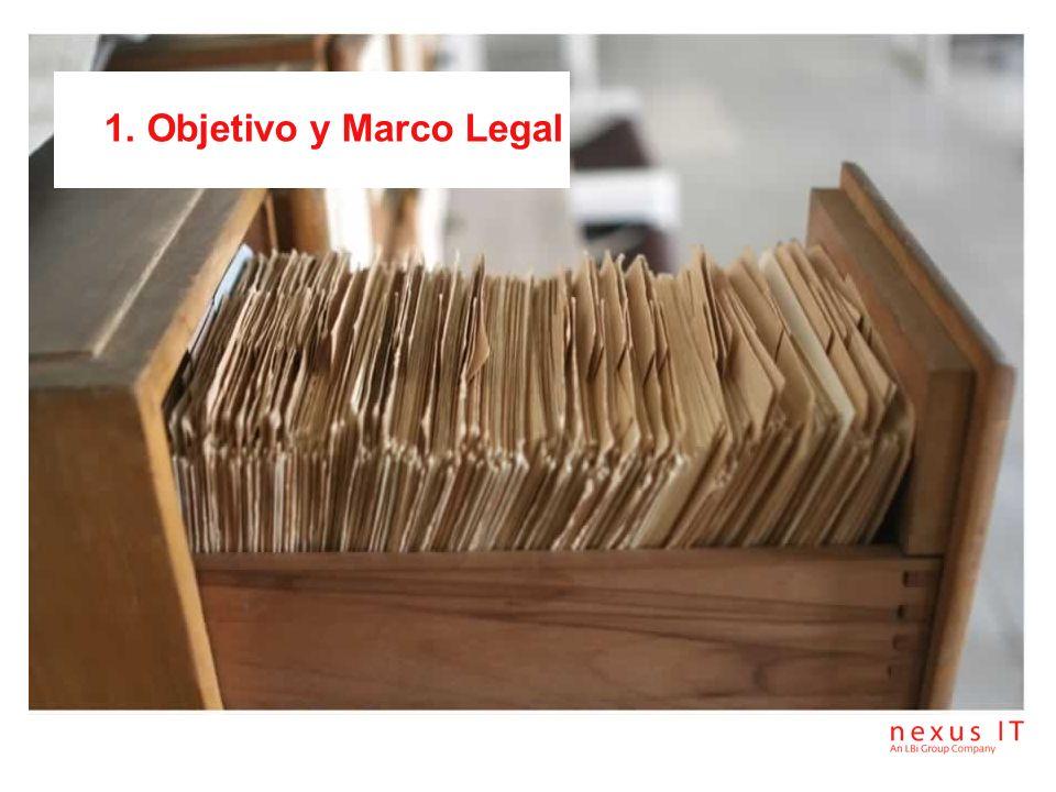 1. Objetivo y Marco Legal