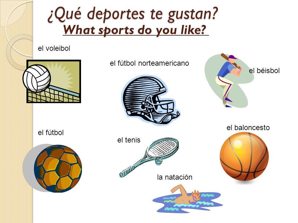 ¿Qué deportes te gustan